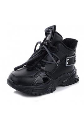 Демисезонные ботинки для девочки Черный