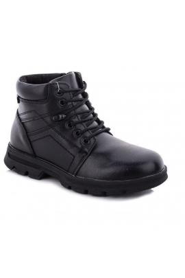 Кожаные демисезонные ботинки Черный