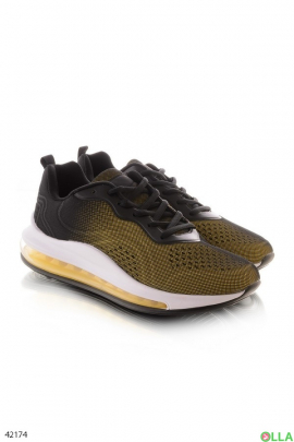 Мужские желто-черные кроссовки