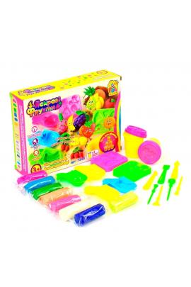Набор тесто для лепки Фрукты с формами и аксессуарами Разноцветный 6945717432369