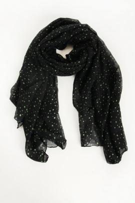 Женский черный шарф