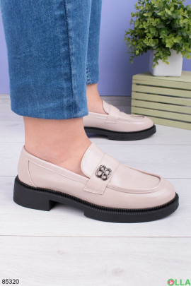 Женские светло-бежевые туфли