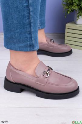 Женские розовые туфли с пряжкой