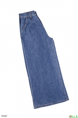 Женские джинсы-кюлоты