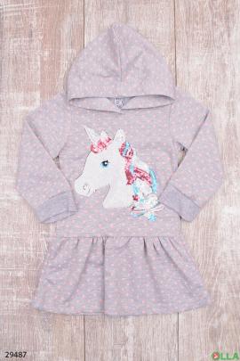 Платье с рисунком для девочки