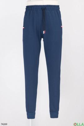 Мужские спортивные синие брюки