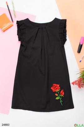 Черный сарафан с вышивкой