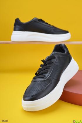 Женские черные кроссовки - 00-00180005
