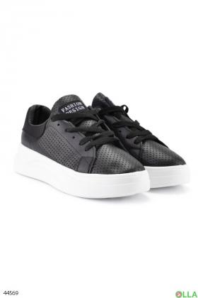 Женские черные кроссовки - 00-00180006