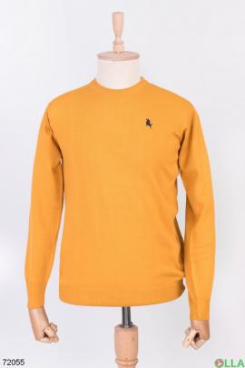 Мужской желтый свитер
