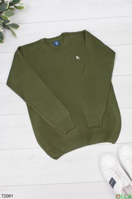 Мужской зеленый свитер