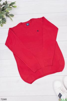 Мужской красный свитер