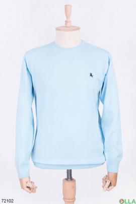 Мужской голубой свитер