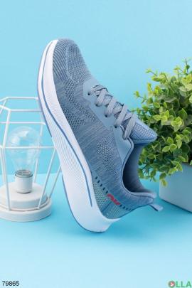 Мужские синие кроссовки на шнуровке