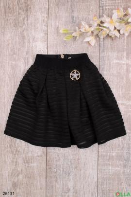 Черная юбка с сетчатыми вставками