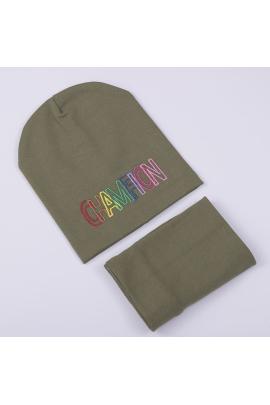 Набор для девочки: шапка Miki + хомут Пудра