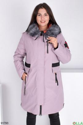 Женская зимняя лиловая куртка