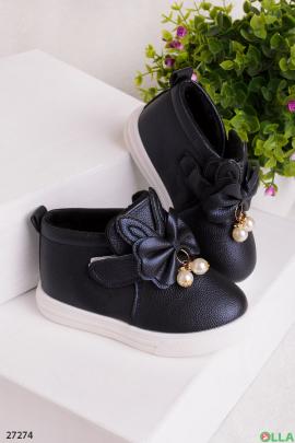 Синие ботинки с ушками