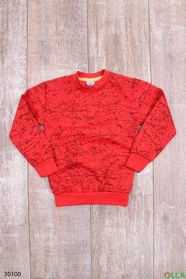Красный свитшот для мальчика