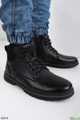 Мужские черные ботинки