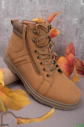 Мужские бежевые ботинки