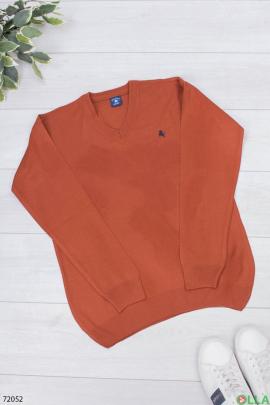 Мужской терракотовый свитер