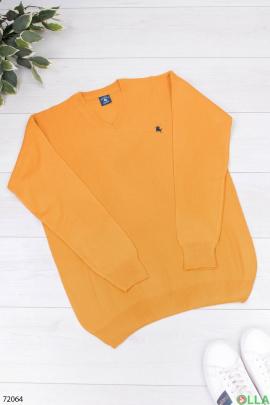 Мужской оранжевый свитер