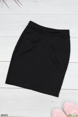 Женская черная трикотажная юбка