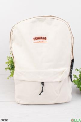 Мужской белый рюкзак