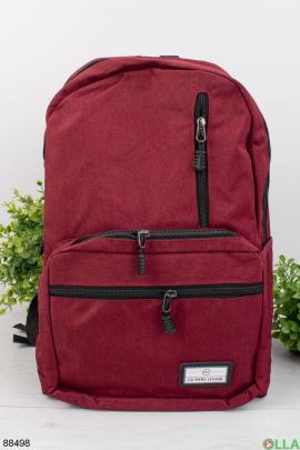 Мужской бордовый рюкзак