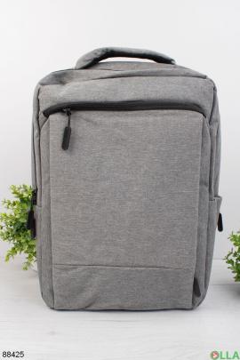 Мужской светло-серый рюкзак