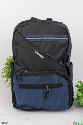 Мужской сине-черный рюкзак