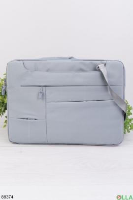 """Светло-серая сумка для ноутбука 15.6"""""""