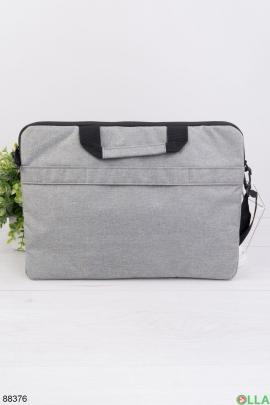 """Серая сумка для ноутбука 15.6"""""""