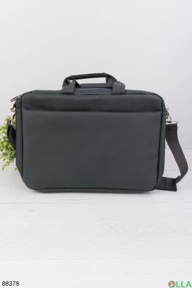 """Темно-серая сумка для ноутбука 15.6"""""""