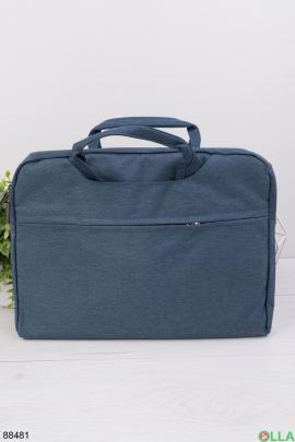 Синяя сумка для ноутбука