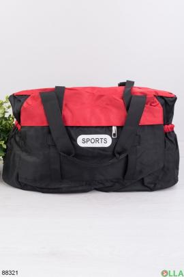 Черно-красная спортивная сумка