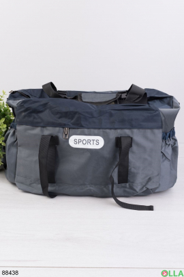 Серо-синяя спортивная сумка