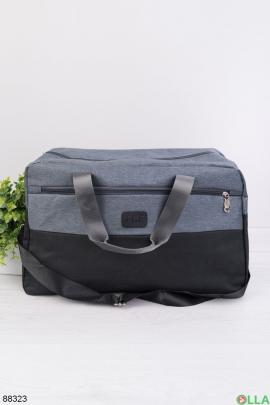 Черно-серая спортивная сумка