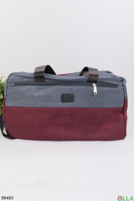 Красно-серая спортивная сумка
