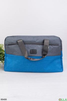 Серо-голубая спортивная сумка
