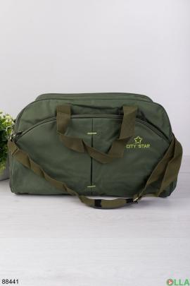 Зеленая спортивная сумка