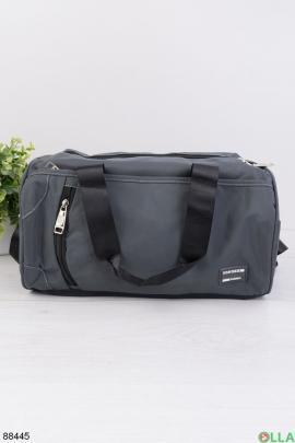 Серая спортивная сумка