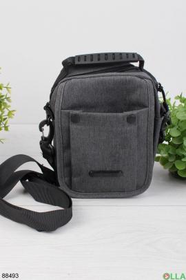 Мужская серая сумка