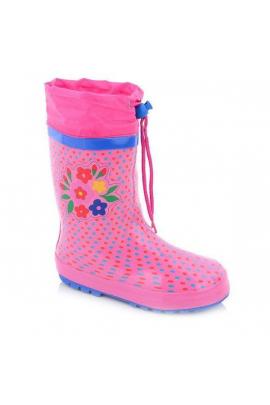 Утепленные резиновые сапоги для девочки Розовый