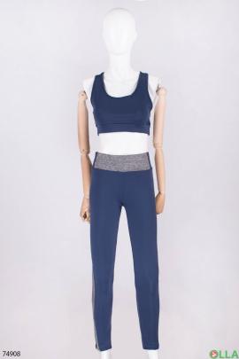 Женский серо-синий спортивный костюм