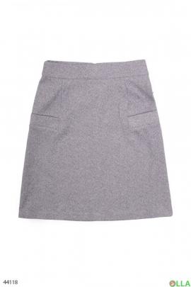 Женская серая юбка