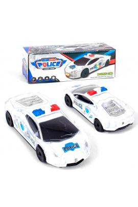 Полицейская спортивная машина со световым и звуковым эффектом Белая 6969999010435