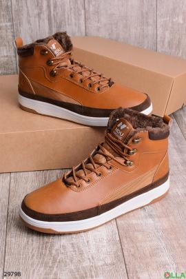 Мужские ботинки на шнуровке