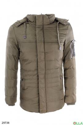 Мужская куртка с карманом на рукаве